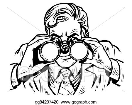 clip art black and white Vector illustration watchman with. Guard clipart sentinel