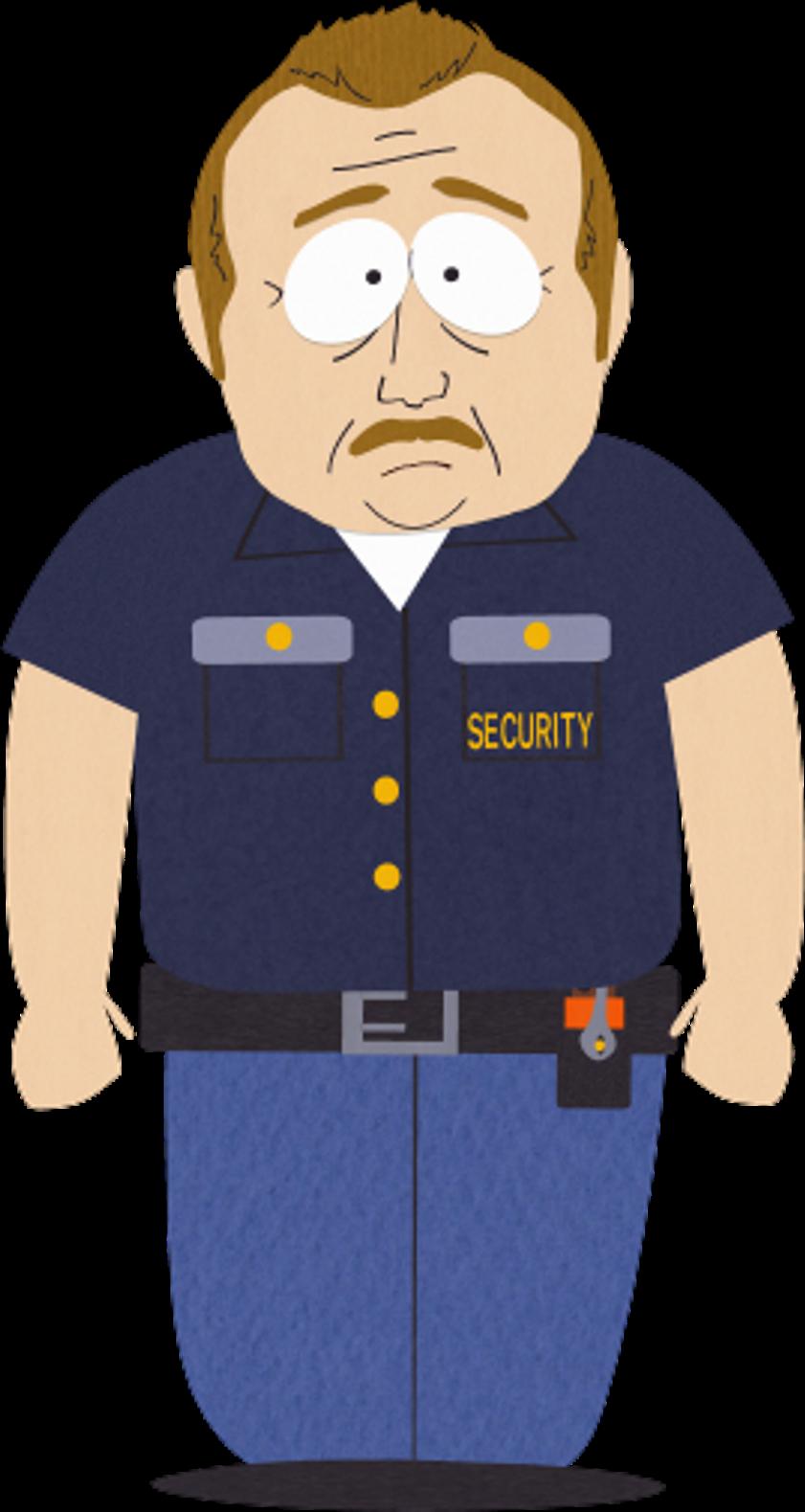 svg free library Security south park archives. Guard clipart uniform shirt