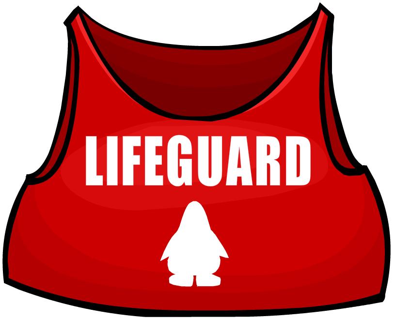 jpg black and white Lifeguard club penguin wiki. Guard clipart uniform shirt