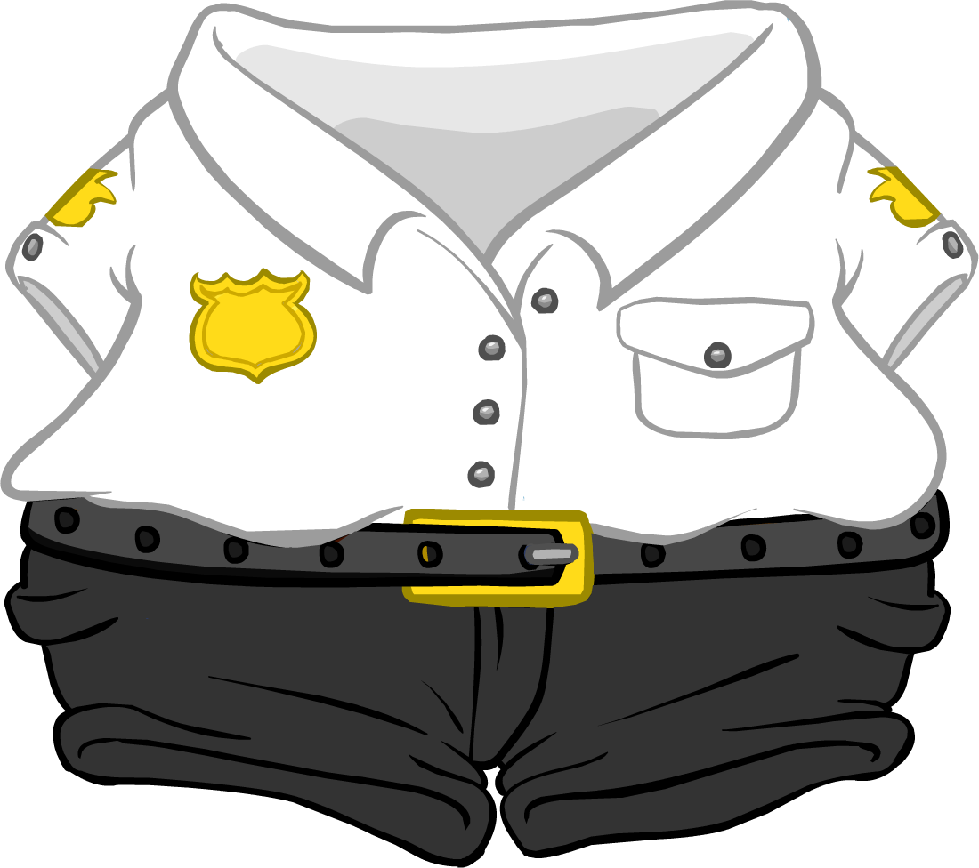 black and white stock Security club penguin wiki. Guard clipart uniform shirt