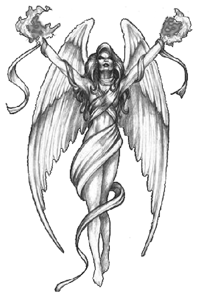 banner black and white Guardian Angel PNG HD Transparent Guardian Angel HD