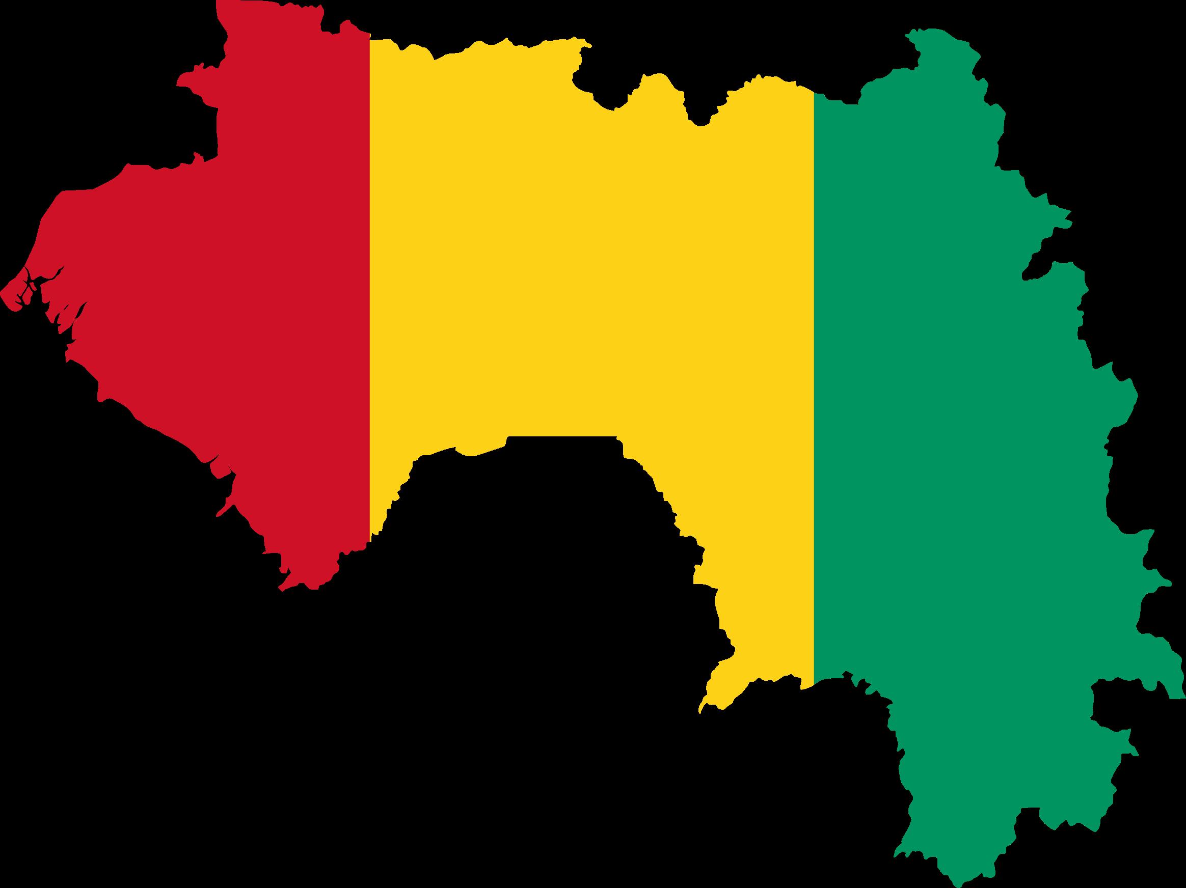 picture transparent download Flag map big image. Guinea clipart
