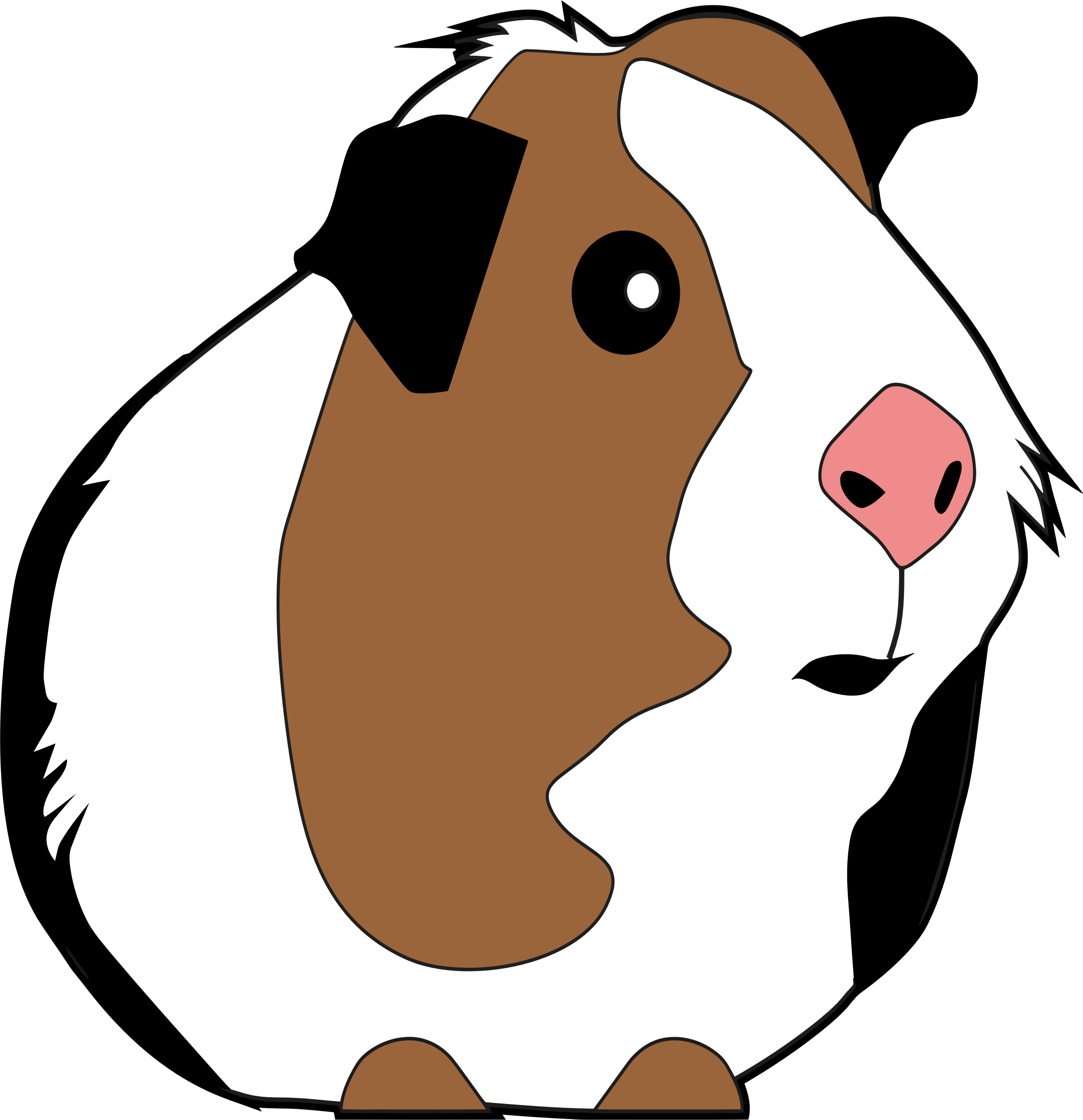 graphic transparent stock Brown clipart guinea pig.  collection of png