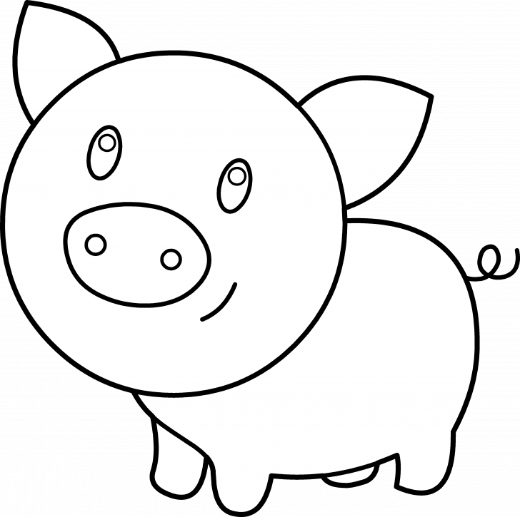 graphic freeuse Guinea clipart cute. Coloring page pig baby