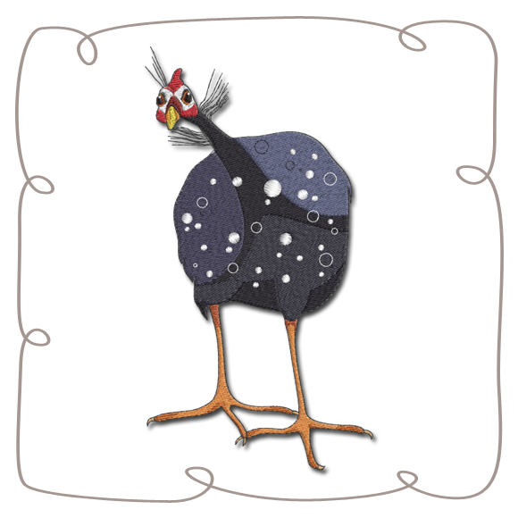 banner free library Fowls machine embroidery designs. Guinea clipart guinea fowl