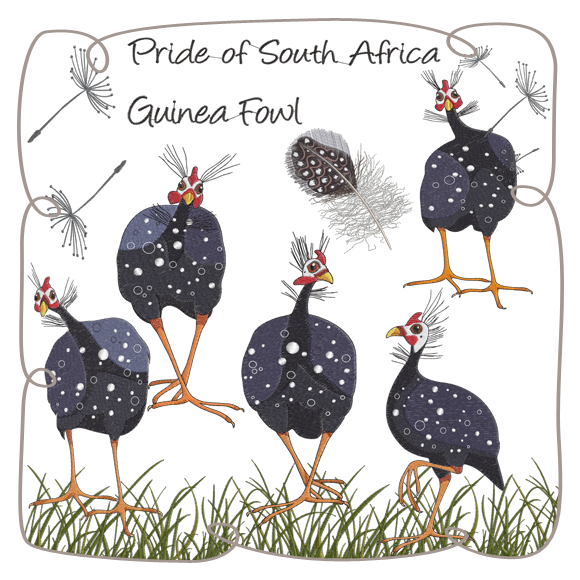 picture library download Guinea clipart guinea fowl. Fowls machine embroidery designs