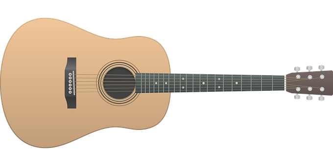 png black and white Guitar clipart. Acoustic transparent background free