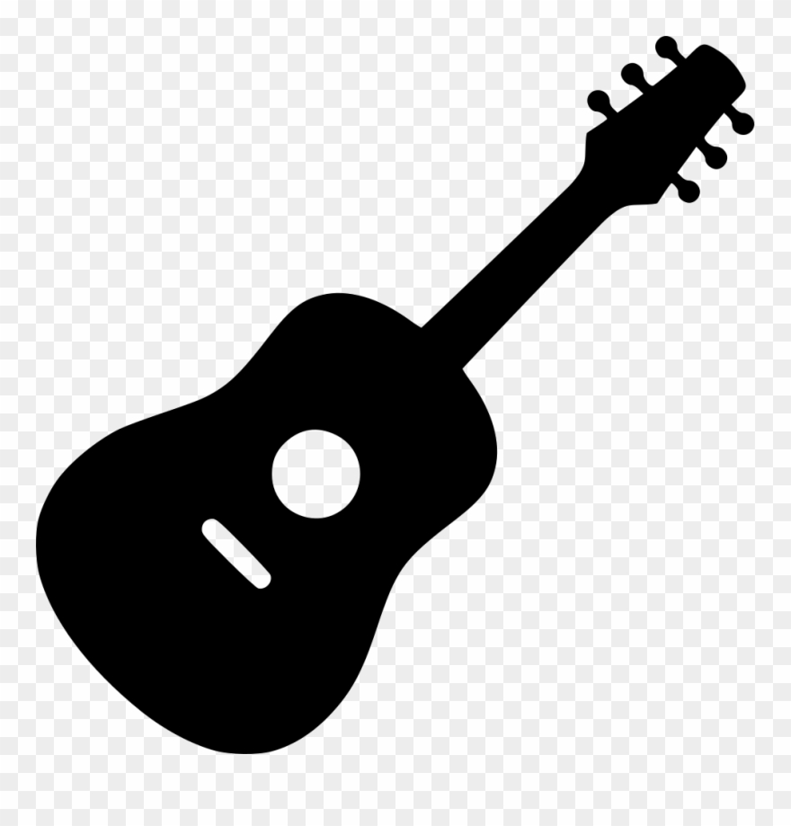 jpg library download Guitar clipart. Acoustic svg icon png.