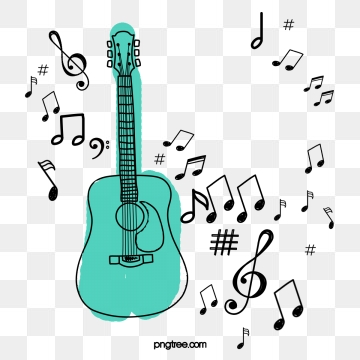 picture black and white download Images png format clip. Guitar clipart.