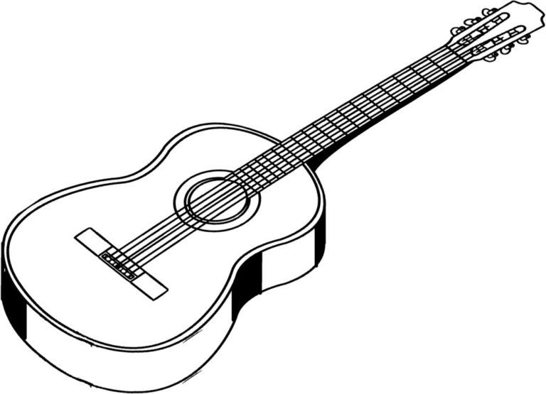 black and white download  clip art image. Guitar clipart black and white