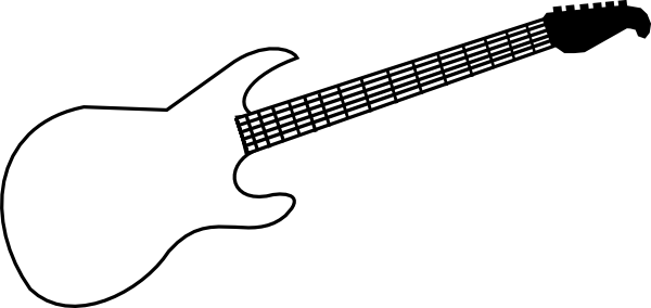 svg library stock Guitar clipart printable. Outline best