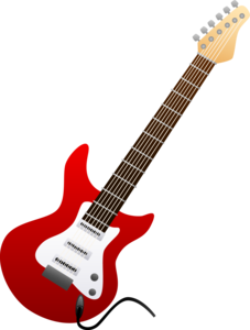 image free stock Electric red free images. Guitar clipart public domain