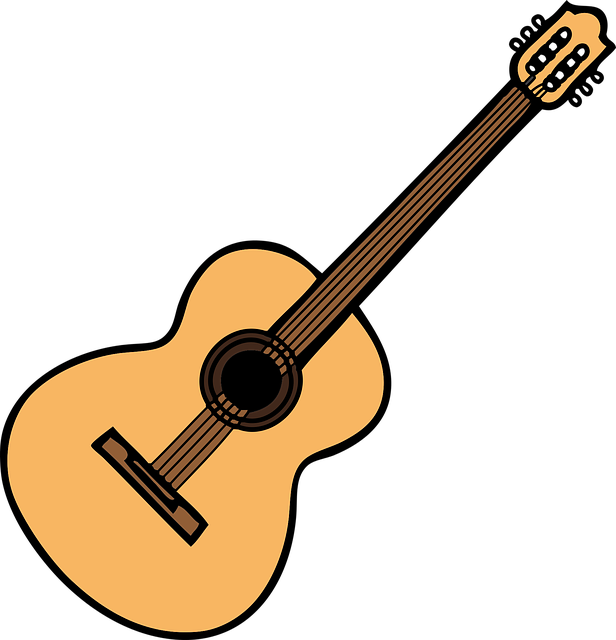 black and white stock Acoustic free on. Guitar clipart public domain