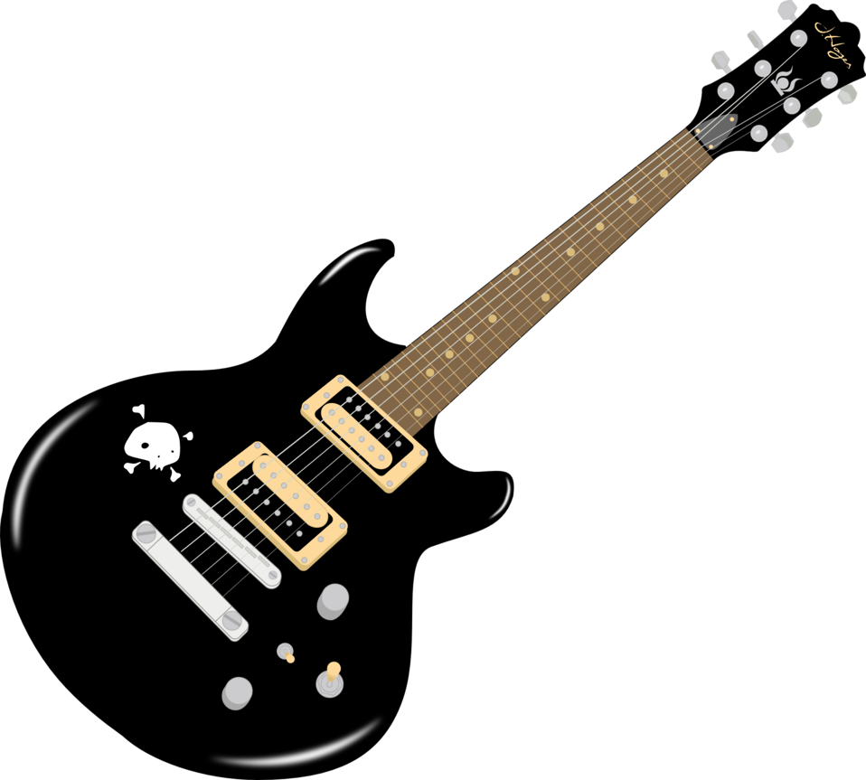 image black and white library Clip art image id. Guitar clipart public domain