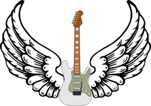 graphic download With wings clip art. Guitar clipart public domain