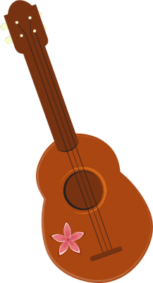 png black and white Acoustic ukelele free on. Guitar clipart vihuela