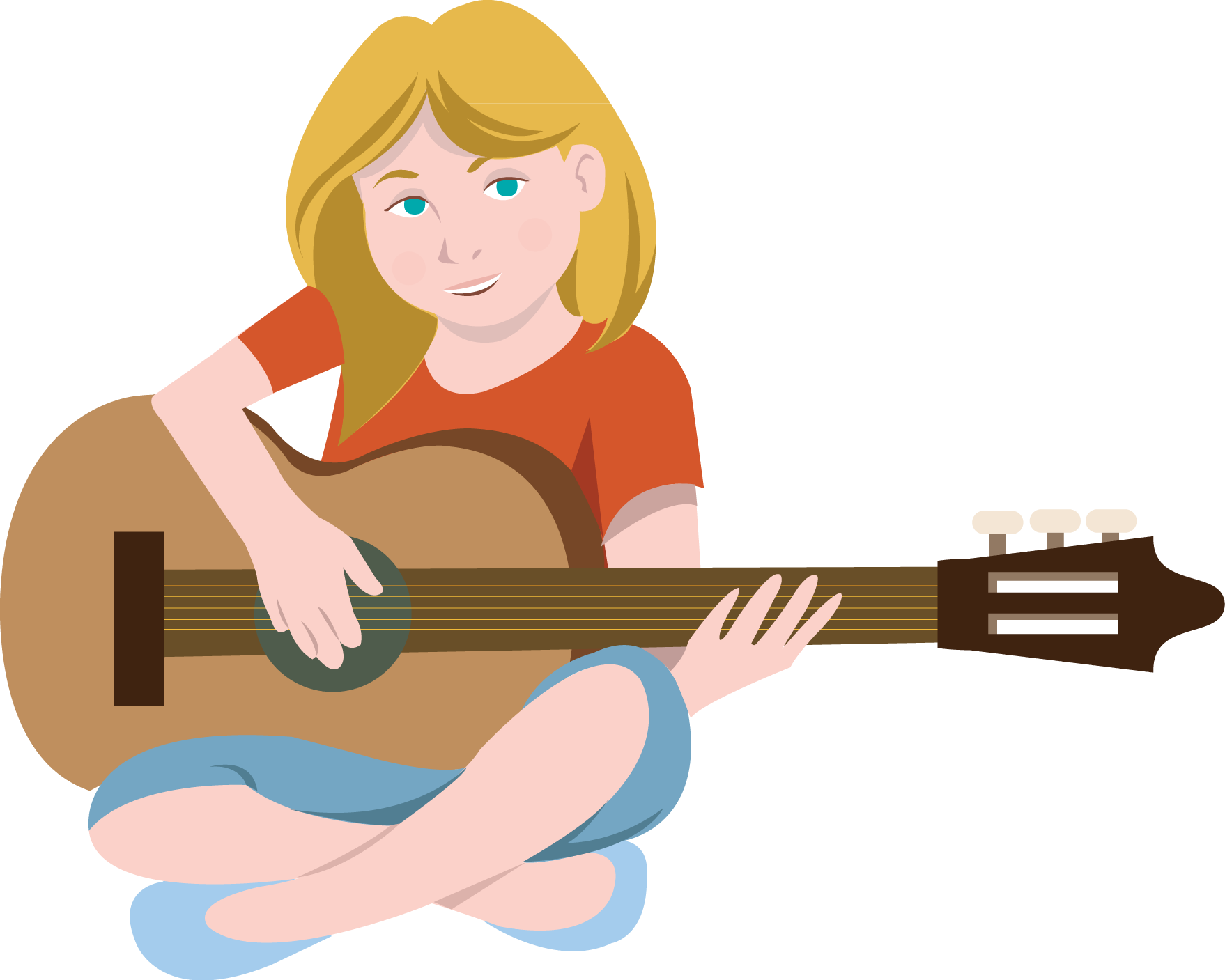 png freeuse library Guitar clipart woman. Female cliparting com