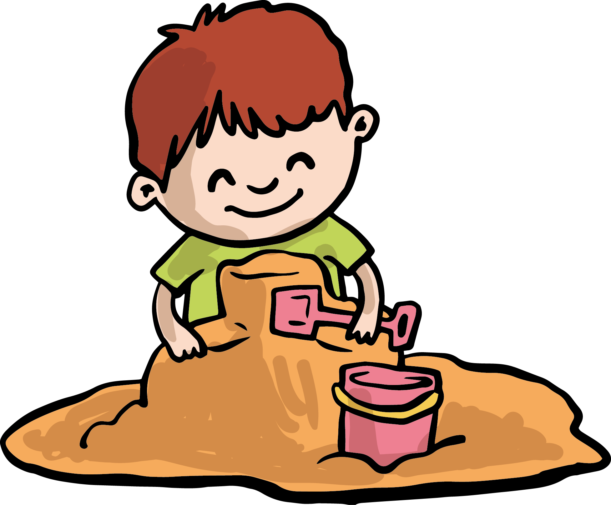 clipart Sand play child clip. Gum clipart boy