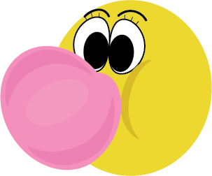 image freeuse stock Bubble adriannasdvldesign. Gum clipart emoji