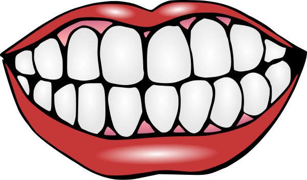 jpg black and white stock Clip art black and. Gum clipart mouth
