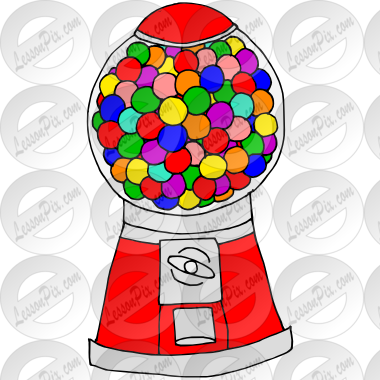 clipart royalty free stock Gumball machine clipart. Picture for classroom therapy.