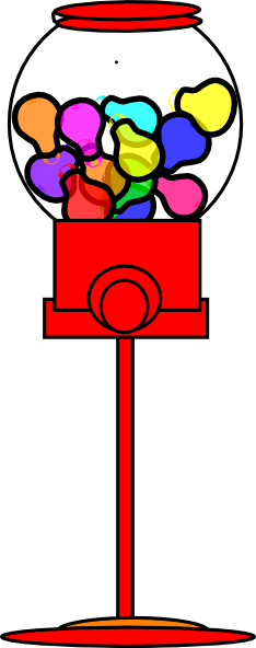 svg freeuse library Chewing gum free on. Gumball machine clipart.