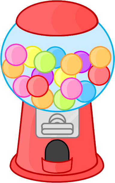 vector The by cutycandy on. Gumball machine clipart.