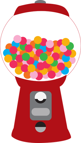 picture freeuse Gumball machine clipart. Doces e balas minus.