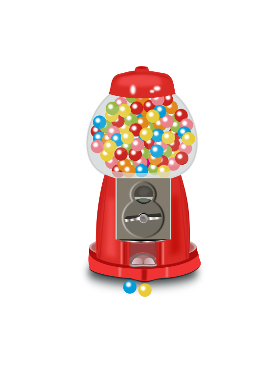 banner library download Gumball machine clipart bubble gum. Medium image png