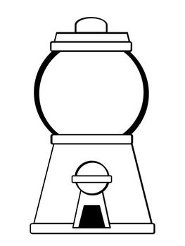 graphic transparent download Gumball machine clipart coloring page. Pages freebie art