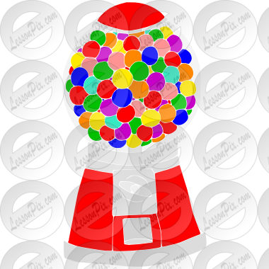 clip free Stencil for classroom therapy. Gumball machine clipart outline