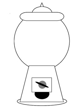 clip art black and white library Free cliparts download clip. Gumball machine clipart outline