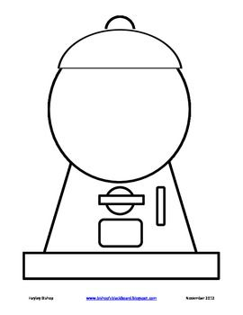 clip art black and white library Gumball machine clipart outline. Free cliparts download clip