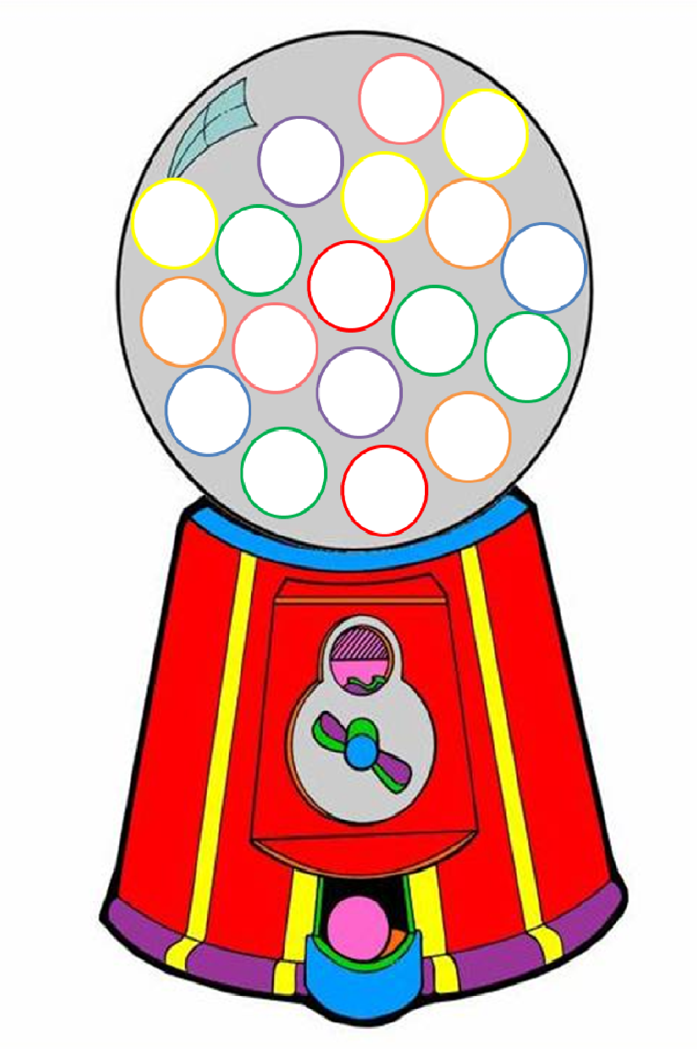 clip art free download Free download best . Gumball machine clipart retro
