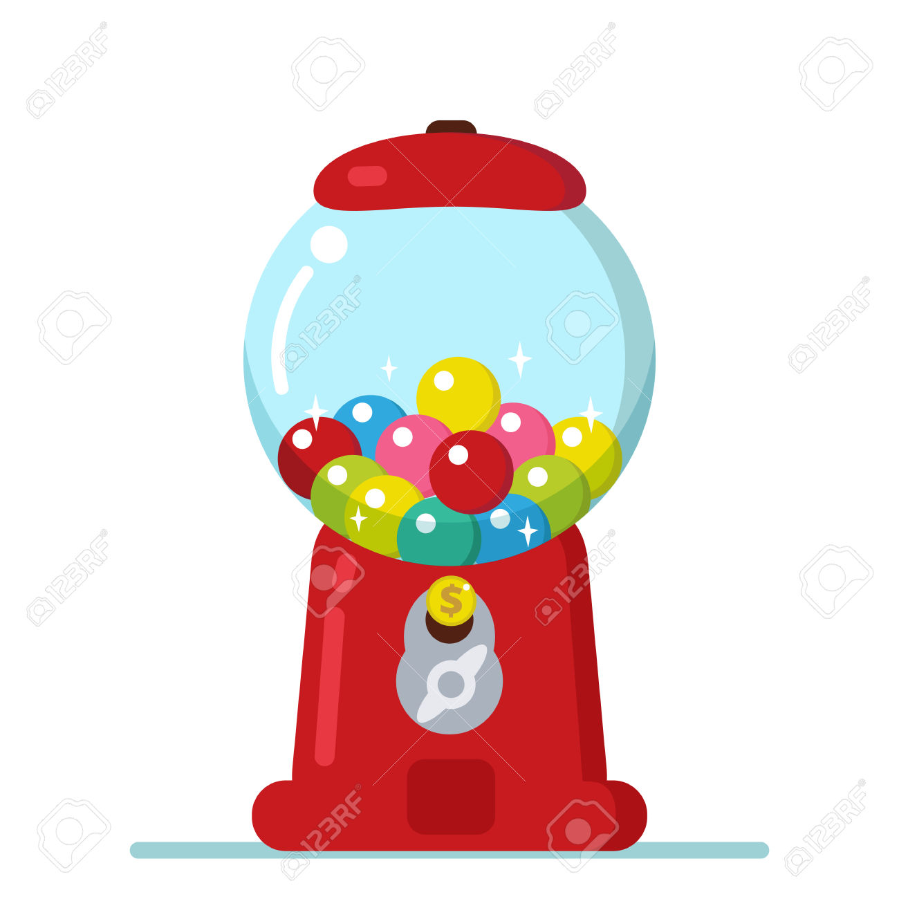 clip art free download Gumball machine clipart retro. Free download best