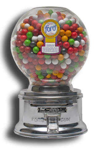 graphic free Gumball machine clipart vintage candy. Ford gum company since