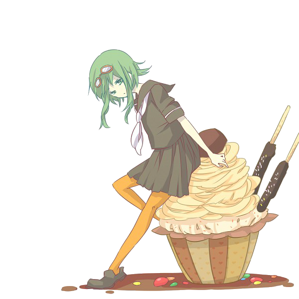 clip transparent download Gumi with Cupcake render by Amu