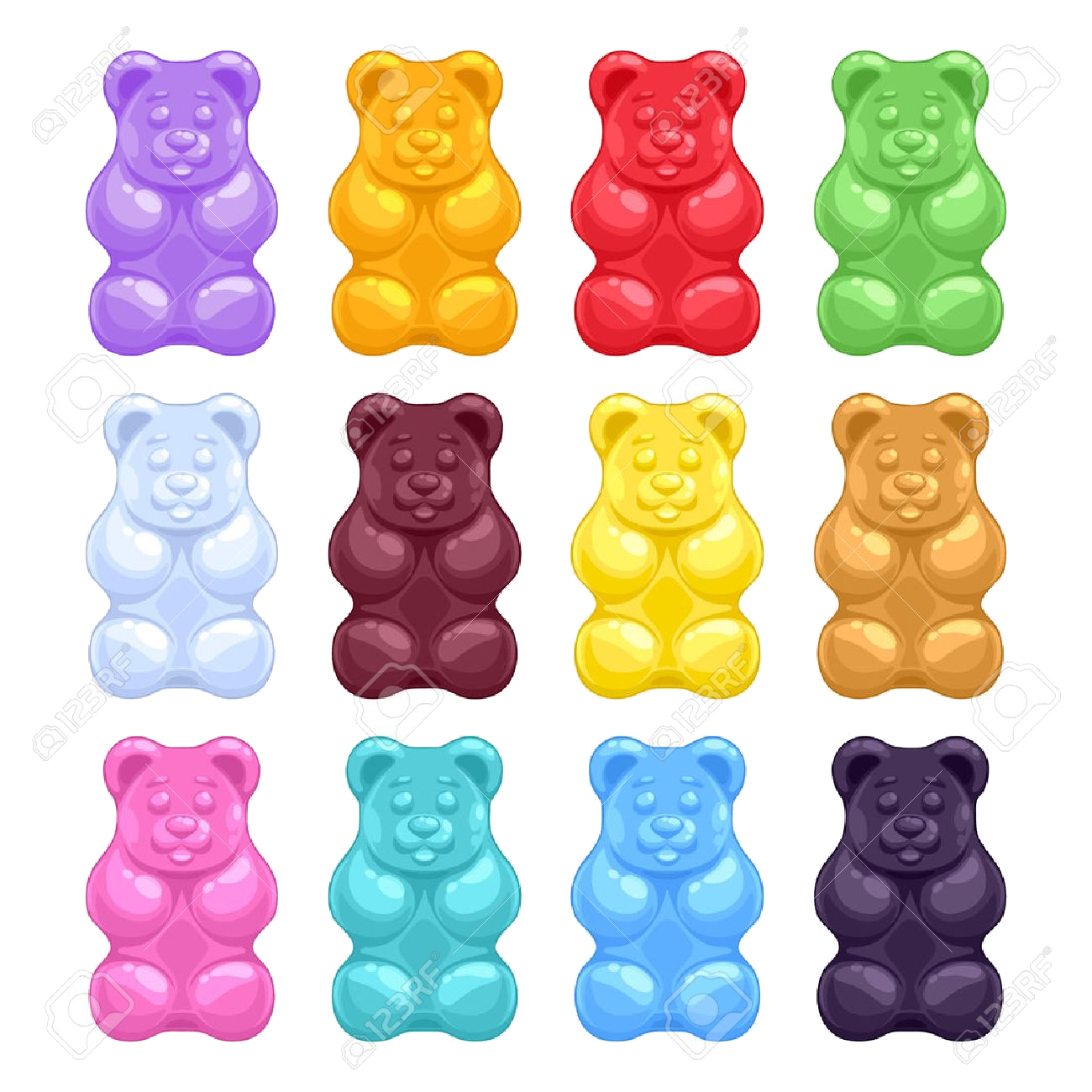 clip art royalty free download Gummy bear clipart. Bears transparent png azpng
