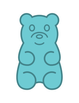 graphic Bears clip art . Gummy bear clipart