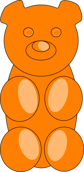 clip library library Bear outline clip art. Gummy clipart