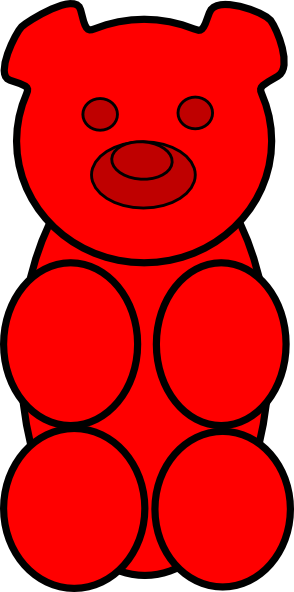 graphic transparent Gummy bear clipart. Clip art at clker