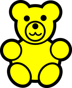 picture freeuse library Bear yellow free on. Gummy clipart cartoon