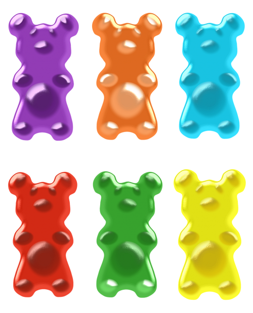 image free stock Gummy clipart colorful bear. Gummi candy clip art