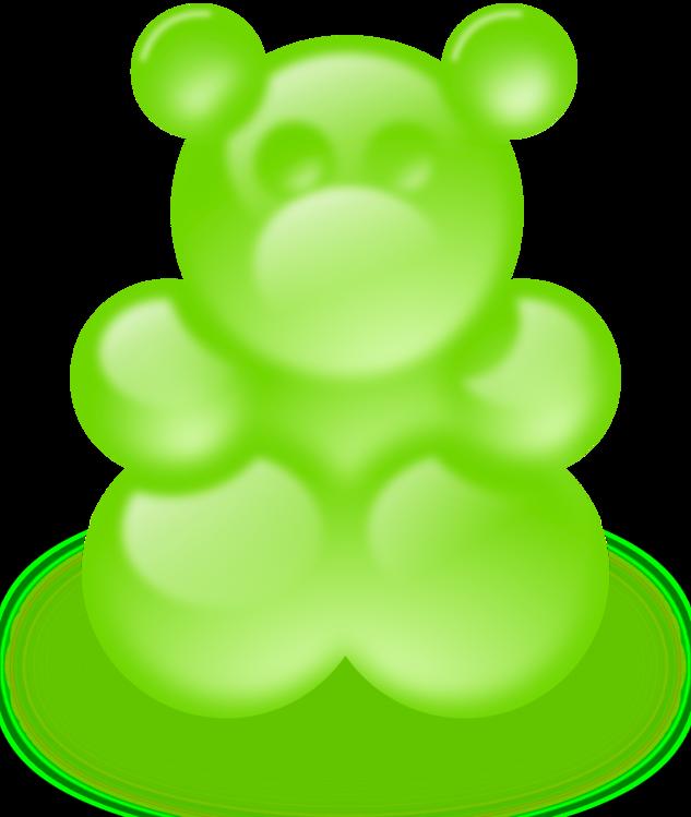 black and white Bear gummi candy chewing. Gummy clipart gumdrop