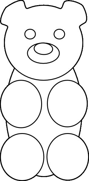 picture transparent Gummy clipart gummy candy. Bear outline clip art