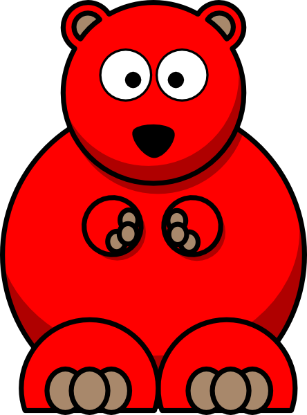 clipart library download Gummy clipart little. Bear red free on