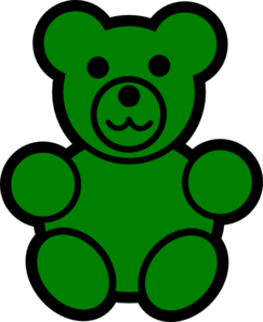 picture free library Green bear clip art. Gummy clipart little