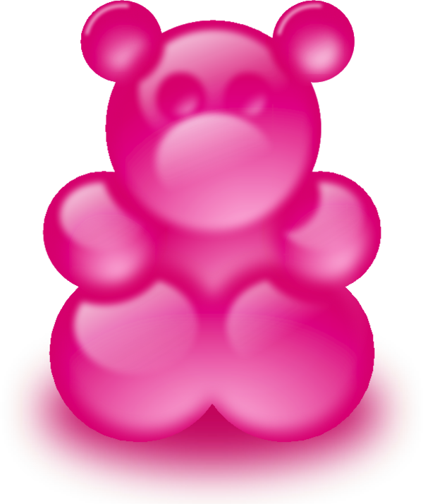 clipart black and white Pink large bear sort. Gummy clipart one