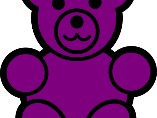 banner black and white Free on dumielauxepices net. Gummy clipart purple bear