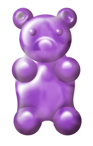 clipart black and white Gummy clipart purple bear. Calidesign o elements png